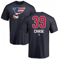 Men's Kelly Chase St. Louis Blues Name and Number Banner Wave T-Shirt - Navy