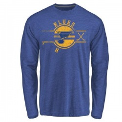 Youth Carter Hutton St. Louis Blues Insignia Tri-Blend Long Sleeve T-Shirt - Royal